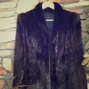 Jackets & Blazers - Dark brown mink coat